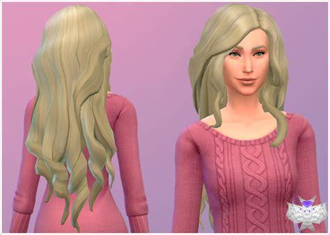 sims 4 longest hair my sims 4 blog david sims long wavy modified hair for females