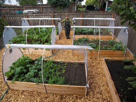Backyard Vegetable Garden Design Ideas Soil Backyard Vegetable Garden House Design With Wood Raised Bed With Covers And Wooden