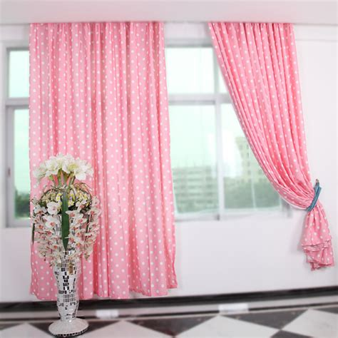 curtain for girl room pink color polka dot curtains suitable for girls room