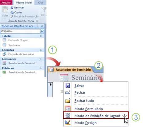 usar layout it saiba quando usar o modo layout no access 2010 access