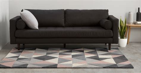 teppiche 400 x 500 grey pink rug large wool tufted geometric 160 x 230cm