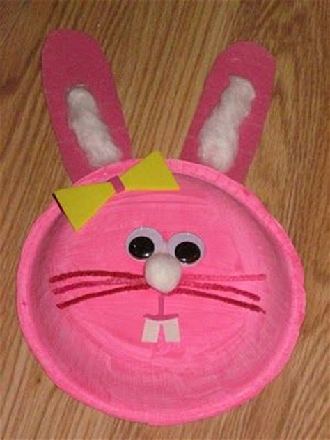 Paper Plate Bunny Craft - crafts actvities and worksheets for preschool toddler and