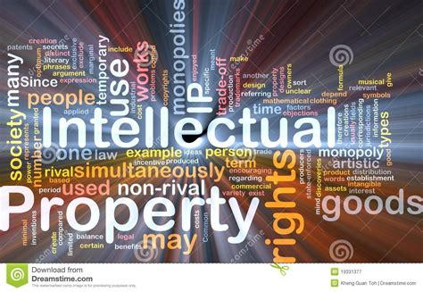 intellectual property background concept royalty