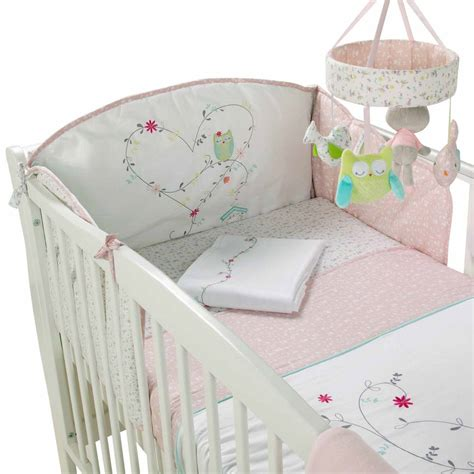Baby Pink Cot Bedding Sets Babies Cot Bedding Set