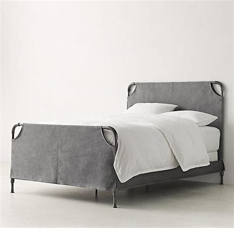 slipcovered bed vox graphite iron slipcovered bed