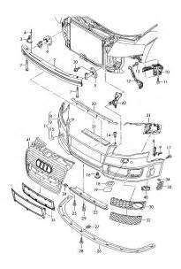 Audi Spare Parts Germany Audi 8e Rs4 Cabrio Attachment Bumper 8e0807278 Ebay
