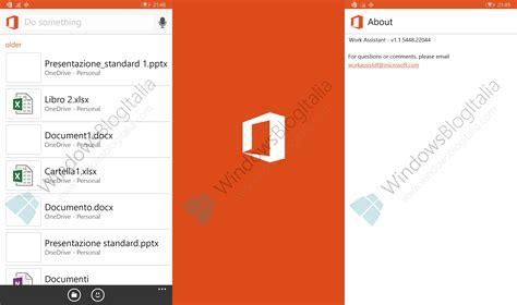Microsoft Office Work Cortana And Work Assistant Screenshots Leaked