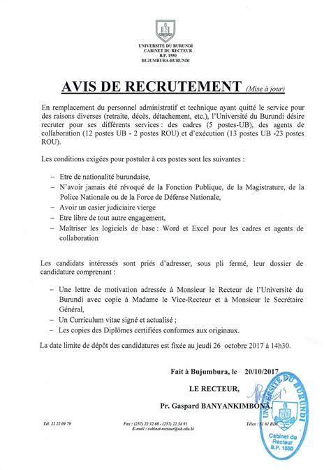 Cabinet De Recrutement En Anglais by Exemple Lettre De Motivation Cabinet De Recrutement