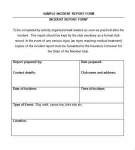 Incident Summary Report Template by Incident Report Template 33 Free Word Pdf Format