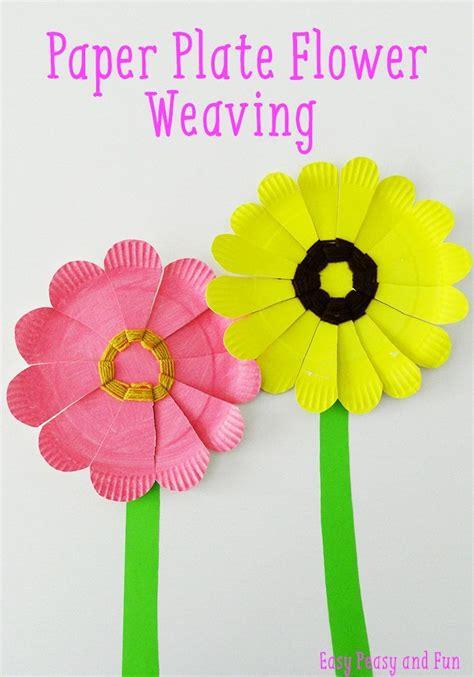 Paper Plate Weaving Craft - paper plate flower weaving flower crafts flower and craft
