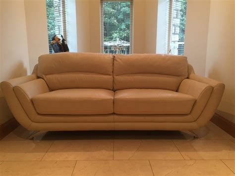 3 seater cream leather sofa 3 seater cream italian leather sofa for sale in edenderry