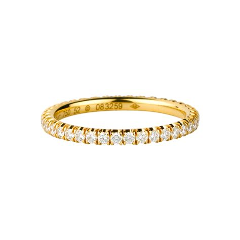 14k yellow gold wedding ring set with brilliant cut