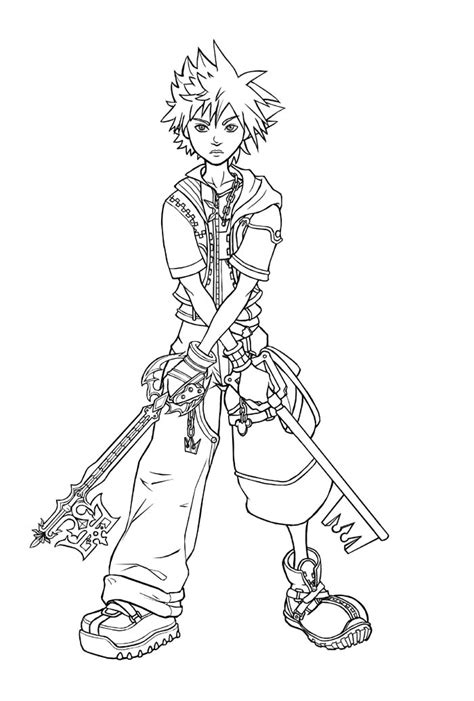 keyblade coloring pages the keyblade wielders by slightlygreen on deviantart