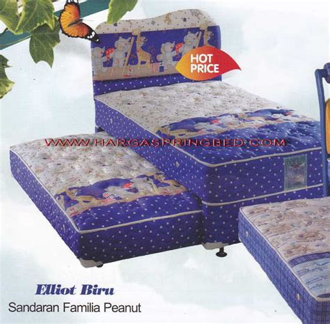 Kasur Ranjang Bigland 2 In 1 Sorong Hello Lisensi Best Friend toko furniture simpati bed 2 in 1 kasur sorong holidays oo