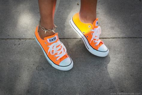 shoes that change color in the sun shoes orange all neon converse converse that