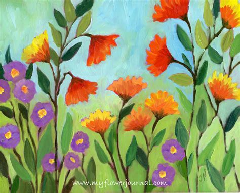 paintings of flowers flower art inspiration my flower journal