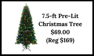 pre lit christmas tree walgreens 7 5 ft alpine artificial tree w color changing led lights only 69 reg 169