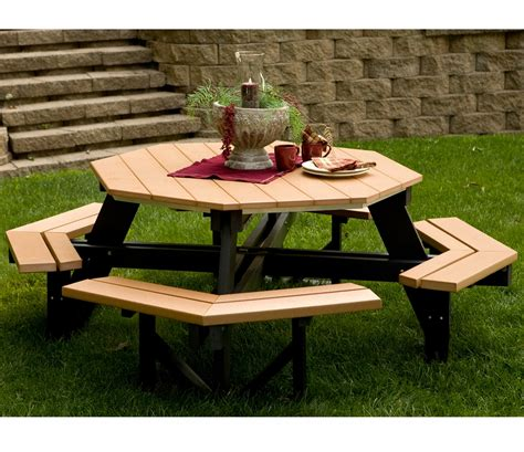 Furniture Amazing Outdoor Dining Room With Octagon Dining Room Picnic Table