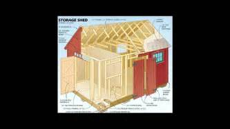 12x16 storage shed plans youtube