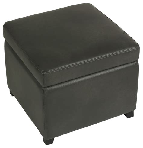gray leather storage ottoman cortesi home massimo gray bonded leather storage ottoman