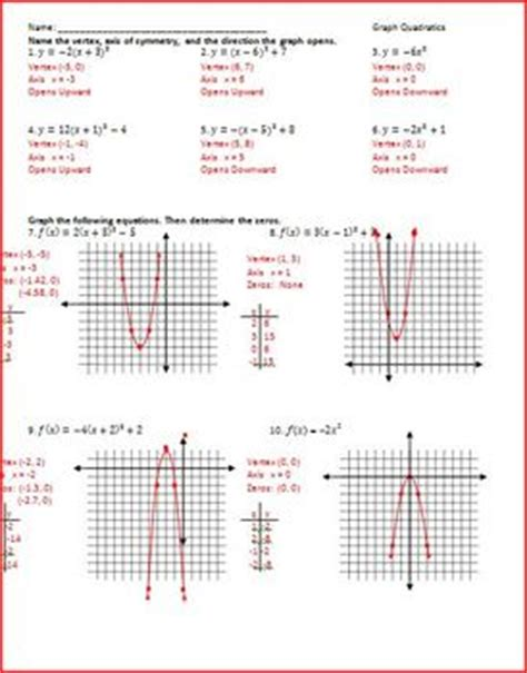 Quadratic Inequalities Worksheet With Answers by Quadratic Worksheets By Rhinestone Teachers Pay