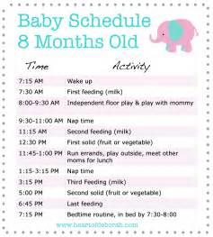 Baby Routine Template by Sle Baby Schedule 8 Months Sleep Schedule