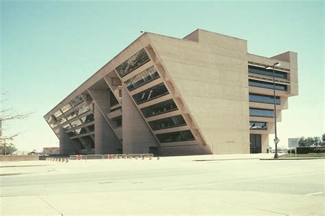 Find My Floor Plan Images Of The Dallas City Hall By I M Pei