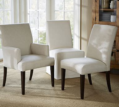 Pottery Barn Dining Chairs Pb Comfort Square Upholstered Chair Pottery Barn