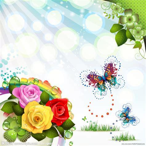 imagenes de cumpleaños con mariposas fondos de rosas y mariposas en vectores
