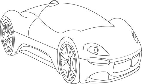 super car maserati 2 coloring page for kids