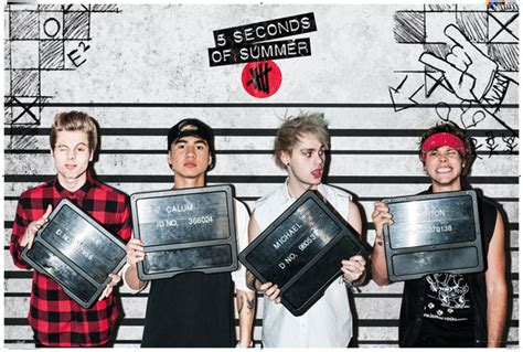 5sos Official Band Poster 5 Seconds Of Summer Iphone All Hp 5 seconds of summer 5 sos poster print lineup ebay