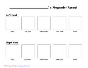 fingerprint paper template exploring fingerprints science for buggy and buddy