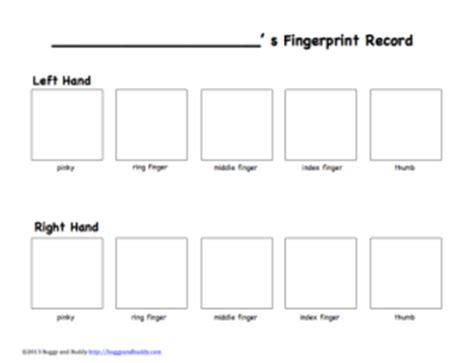 Blank Fingerprint Card Template by Exploring Fingerprints Science For