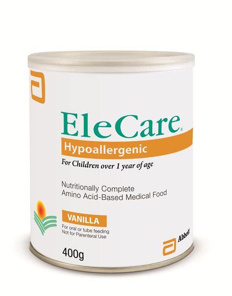 Formula Hypoallergenic elecare 174 hypoallergenic vanilla formula 400g infants and children