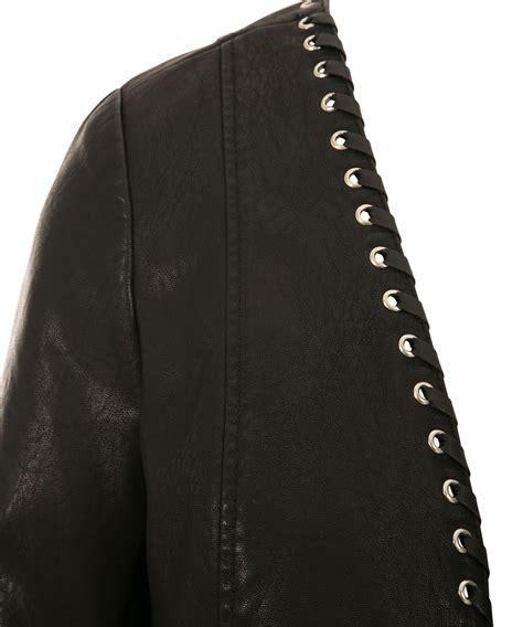 faux leather blazer faux leather grommet blazer rickis