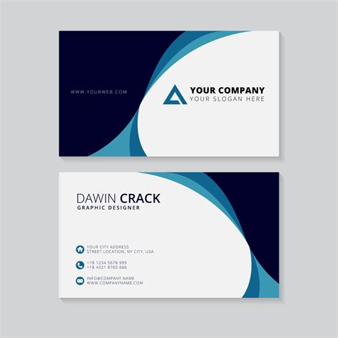 Business Card Template Eps by Creative Business Card Template Free Vector