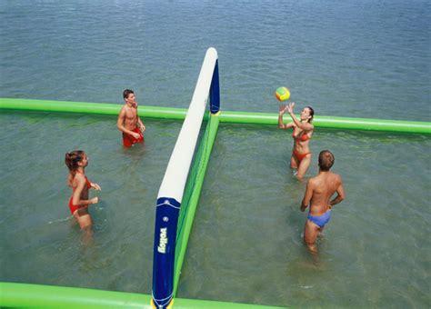 Mainan Water Geme hola lapangan voli tiup air permainan untuk dijual mainan