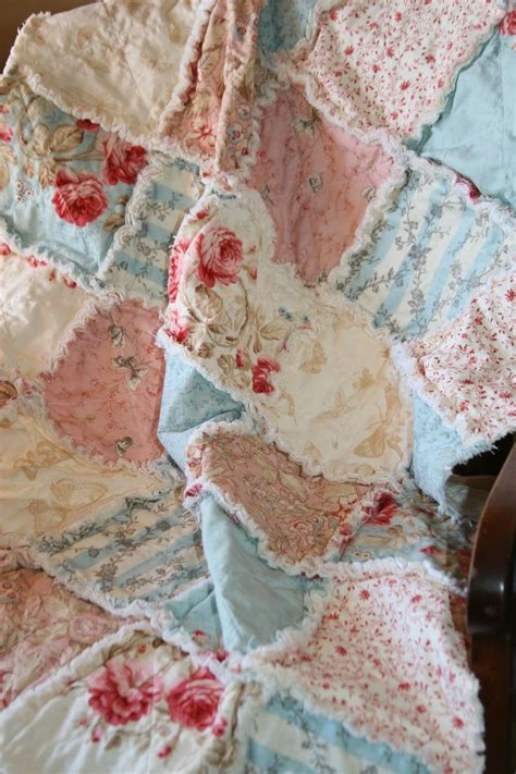 baby girl rag quilt shabby chic french country vintage