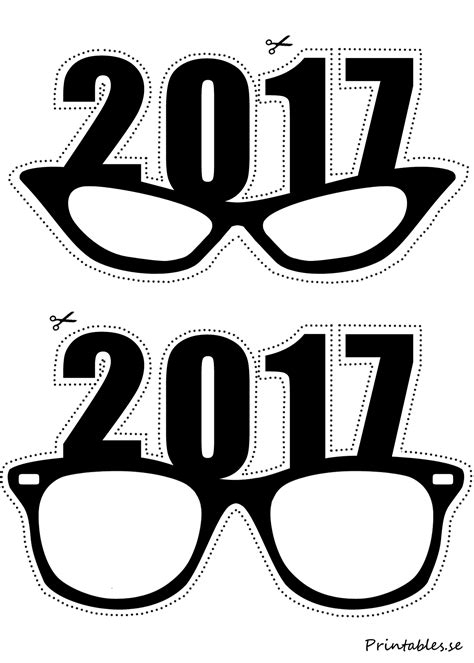 printable photo booth props black and white photo booth props new years eve glasses for 2017