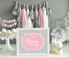 items similar to grey and pink baby shower decorations