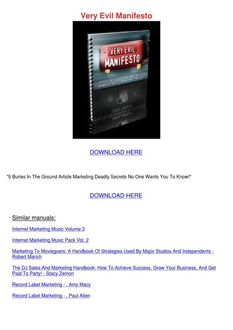 the dj sales and marketing handbook how to achieve success grow your business and get paid to books evil manifesto by gilbertodaley issuu