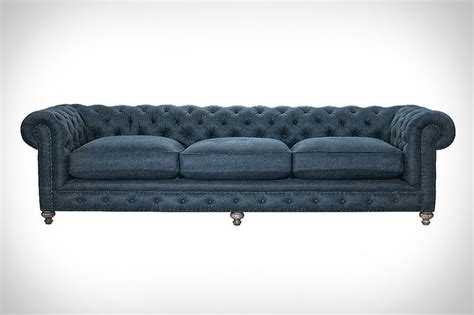 Feather Filled Sofas by Feather Filled Denim Sofas Denim Sofa