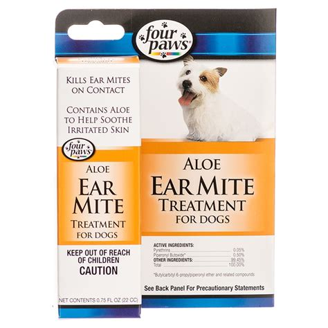 four paws four paws ear mite remedy for dogs 75 oz ear