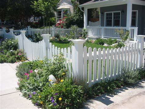 front yard fencing landscape contemporary with cottage
