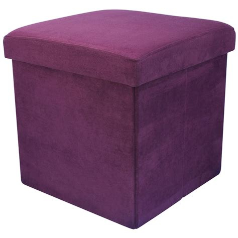 foldable ottoman 38cm folding storage pouffe cube foot stool seat ottoman