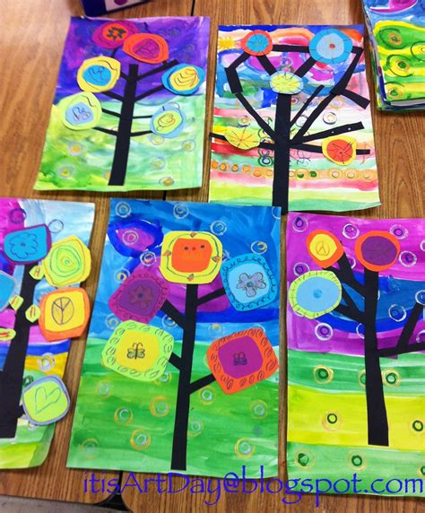 pattern art lesson grade 1 it s art day kandinsky trees