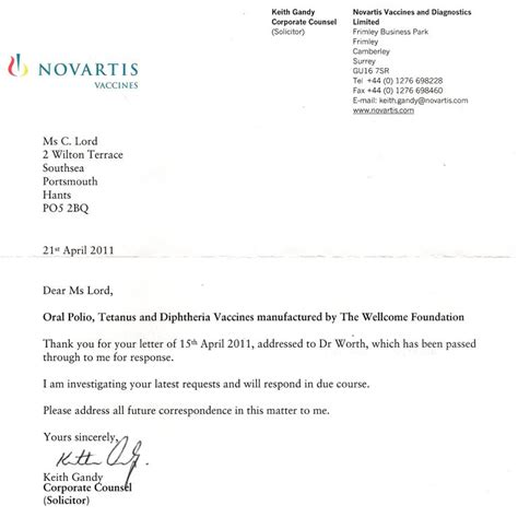 email format novartis cover letter yours sincerely cover letter templates