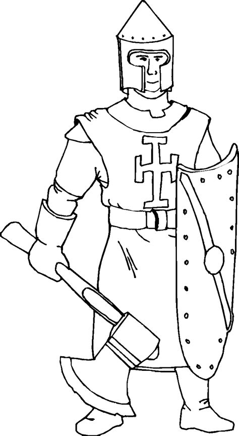 free coloring pages of knight helmet