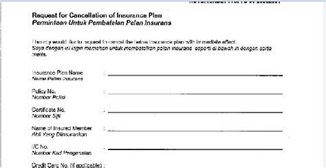 Aia Insurance Guarantee Letter Cara Membatalkan Polisi Insurans Aia Bahagia Itu Milik Kita