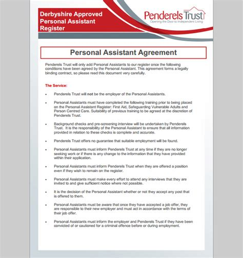 Personal Agreement Letter Sle Assistant Agreement Template 28 Images Physician Assistant Employment Guide Physician